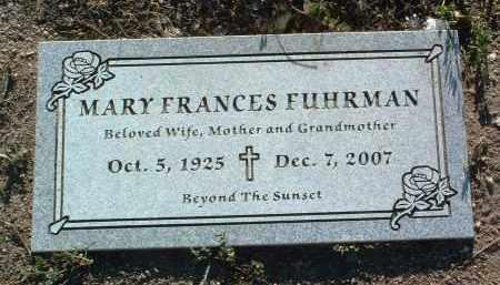 MADEWELL FUHRMAN, MARY FRANCES - Yavapai County, Arizona | MARY FRANCES MADEWELL FUHRMAN - Arizona Gravestone Photos