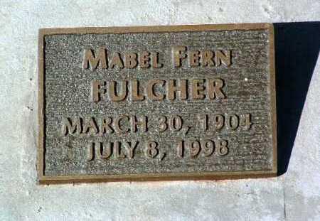 FULCHER, MABEL FERN - Yavapai County, Arizona   MABEL FERN FULCHER - Arizona Gravestone Photos