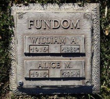 FUNDOM, WILLIAM A. - Yavapai County, Arizona | WILLIAM A. FUNDOM - Arizona Gravestone Photos