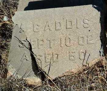 GADDIS, A. - Yavapai County, Arizona   A. GADDIS - Arizona Gravestone Photos