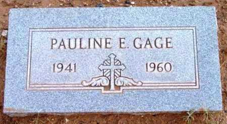 GAGE, PAULINE EVELYN - Yavapai County, Arizona | PAULINE EVELYN GAGE - Arizona Gravestone Photos
