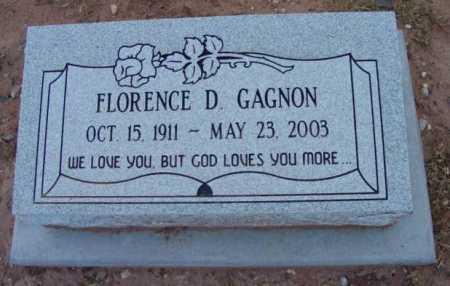 GAGNON, FLORENCE D. - Yavapai County, Arizona | FLORENCE D. GAGNON - Arizona Gravestone Photos