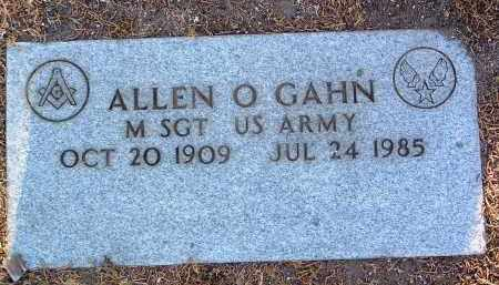 GAHN, ALLEN OVERMYER - Yavapai County, Arizona   ALLEN OVERMYER GAHN - Arizona Gravestone Photos