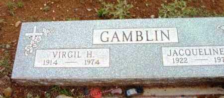 GAMBLIN, VIRGIL H. - Yavapai County, Arizona | VIRGIL H. GAMBLIN - Arizona Gravestone Photos