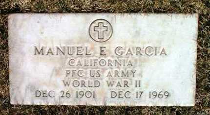 GARCIA, MANUEL E. - Yavapai County, Arizona   MANUEL E. GARCIA - Arizona Gravestone Photos