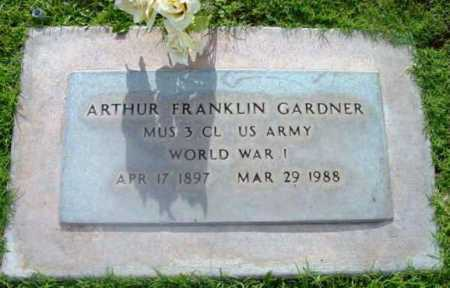 GARDNER, ARTHUR FRANKLIN - Yavapai County, Arizona | ARTHUR FRANKLIN GARDNER - Arizona Gravestone Photos