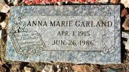 GARLAND, ANNA MARIE - Yavapai County, Arizona | ANNA MARIE GARLAND - Arizona Gravestone Photos