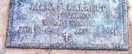 GARRETT, JACK P. - Yavapai County, Arizona | JACK P. GARRETT - Arizona Gravestone Photos