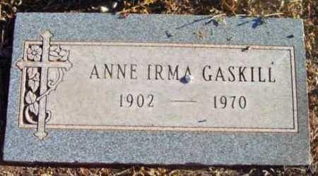 GASKILL, ANNE IRMA - Yavapai County, Arizona | ANNE IRMA GASKILL - Arizona Gravestone Photos