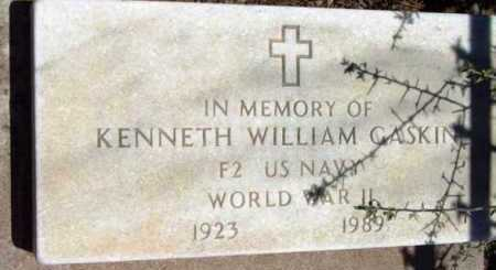 GASKIN, KENNETH WILLIAM - Yavapai County, Arizona   KENNETH WILLIAM GASKIN - Arizona Gravestone Photos