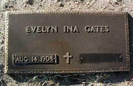 GATES, EVELYN INA (EVIE) - Yavapai County, Arizona | EVELYN INA (EVIE) GATES - Arizona Gravestone Photos