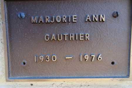 GAUTHIER, MARJORIE ANN - Yavapai County, Arizona   MARJORIE ANN GAUTHIER - Arizona Gravestone Photos