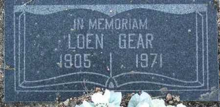 GEAR, LOEN - Yavapai County, Arizona | LOEN GEAR - Arizona Gravestone Photos