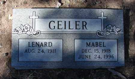GEILER, FRANCES MABEL - Yavapai County, Arizona | FRANCES MABEL GEILER - Arizona Gravestone Photos