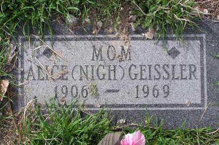NIGH GEISSLER, ALICE J. - Yavapai County, Arizona | ALICE J. NIGH GEISSLER - Arizona Gravestone Photos