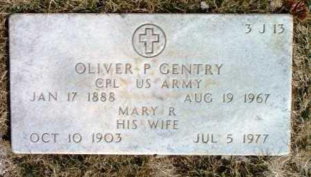 GENTRY, OLIVER P. - Yavapai County, Arizona   OLIVER P. GENTRY - Arizona Gravestone Photos