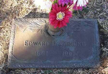 GENUNG, EDWARD BURTON - Yavapai County, Arizona | EDWARD BURTON GENUNG - Arizona Gravestone Photos