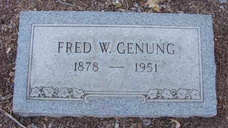 GENUNG, FRED WILLIAM - Yavapai County, Arizona | FRED WILLIAM GENUNG - Arizona Gravestone Photos