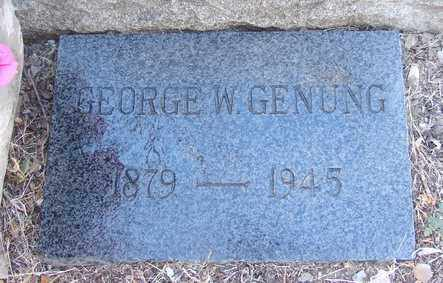 GENUNG, GEORGE WALTER - Yavapai County, Arizona | GEORGE WALTER GENUNG - Arizona Gravestone Photos