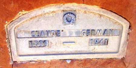 GERMAN, CLAUDE - Yavapai County, Arizona   CLAUDE GERMAN - Arizona Gravestone Photos