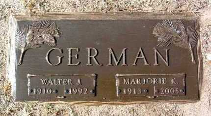 KILPE GERMAN, MARJORIE K. - Yavapai County, Arizona | MARJORIE K. KILPE GERMAN - Arizona Gravestone Photos