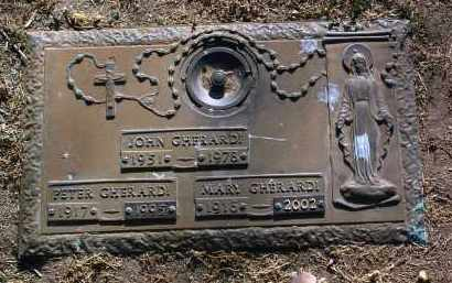 GHERARDI, JOHN - Yavapai County, Arizona | JOHN GHERARDI - Arizona Gravestone Photos