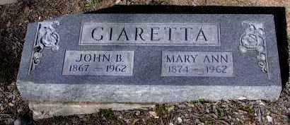 GIARETTA, JOHN B. - Yavapai County, Arizona | JOHN B. GIARETTA - Arizona Gravestone Photos