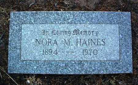 HAINES, NORA MAY - Yavapai County, Arizona   NORA MAY HAINES - Arizona Gravestone Photos