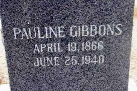 GIBBONS, PAULINE - Yavapai County, Arizona | PAULINE GIBBONS - Arizona Gravestone Photos