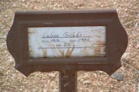 SHEETZ GIBBS, VALENE / VALINE - Yavapai County, Arizona | VALENE / VALINE SHEETZ GIBBS - Arizona Gravestone Photos
