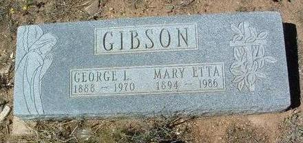 GIBSON, MARY ETTA - Yavapai County, Arizona | MARY ETTA GIBSON - Arizona Gravestone Photos