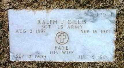 GILLIS, RALPH JESSE - Yavapai County, Arizona | RALPH JESSE GILLIS - Arizona Gravestone Photos