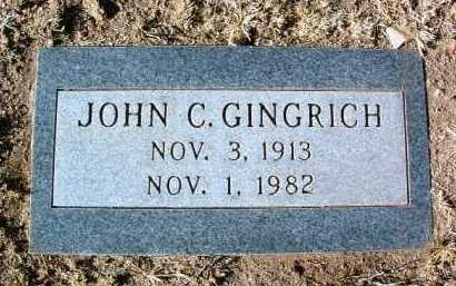 GINGRICH, JOHN CHARLES - Yavapai County, Arizona | JOHN CHARLES GINGRICH - Arizona Gravestone Photos