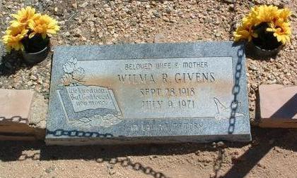 GIVENS, WILMA R. - Yavapai County, Arizona | WILMA R. GIVENS - Arizona Gravestone Photos