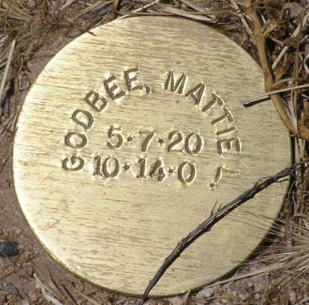 GODBEE, MATTIE L. - Yavapai County, Arizona | MATTIE L. GODBEE - Arizona Gravestone Photos