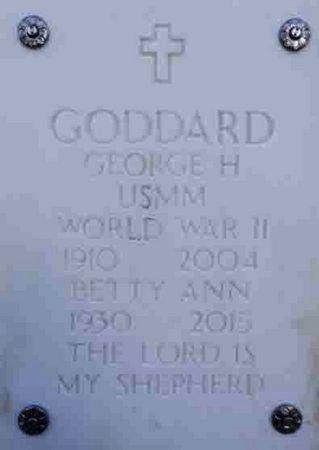 GODDARD, BETTY ANN - Yavapai County, Arizona   BETTY ANN GODDARD - Arizona Gravestone Photos