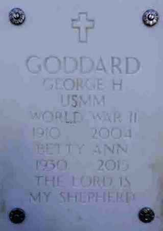 GODDARD, GEORGE H. - Yavapai County, Arizona | GEORGE H. GODDARD - Arizona Gravestone Photos