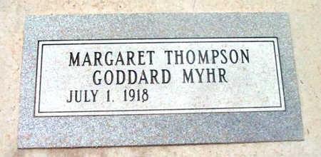 THOMPSON MYHR, MARGARET - Yavapai County, Arizona | MARGARET THOMPSON MYHR - Arizona Gravestone Photos