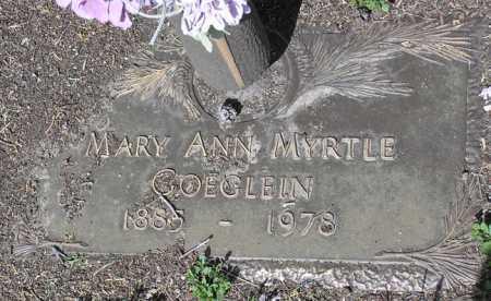 GOEGLEIN, MARY ANN MYRTLE - Yavapai County, Arizona | MARY ANN MYRTLE GOEGLEIN - Arizona Gravestone Photos