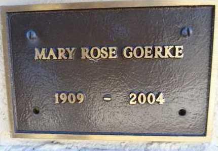 GOERKE, MARY ROSE - Yavapai County, Arizona   MARY ROSE GOERKE - Arizona Gravestone Photos