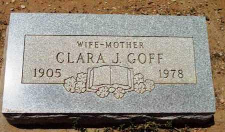 GOFF, CLARA J. - Yavapai County, Arizona   CLARA J. GOFF - Arizona Gravestone Photos