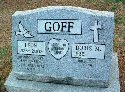 GOFF, LEON F. - Yavapai County, Arizona | LEON F. GOFF - Arizona Gravestone Photos