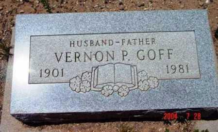 GOFF, VERNON P. - Yavapai County, Arizona | VERNON P. GOFF - Arizona Gravestone Photos