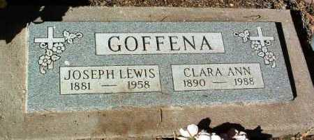 GOFFENA, JOSEPH LEWIS - Yavapai County, Arizona | JOSEPH LEWIS GOFFENA - Arizona Gravestone Photos