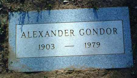 GONDOR, ALEXANDER - Yavapai County, Arizona | ALEXANDER GONDOR - Arizona Gravestone Photos