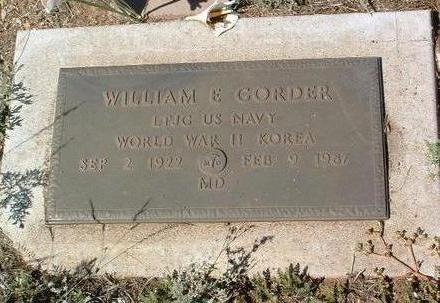 GORDER, WILLIAM E. - Yavapai County, Arizona | WILLIAM E. GORDER - Arizona Gravestone Photos
