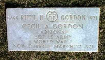 GORDON, RUTH H. - Yavapai County, Arizona   RUTH H. GORDON - Arizona Gravestone Photos