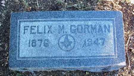 GORMAN, FELIX MANNING - Yavapai County, Arizona | FELIX MANNING GORMAN - Arizona Gravestone Photos