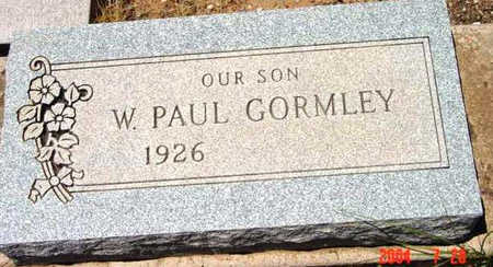 GORMLEY, W. PAUL - Yavapai County, Arizona | W. PAUL GORMLEY - Arizona Gravestone Photos