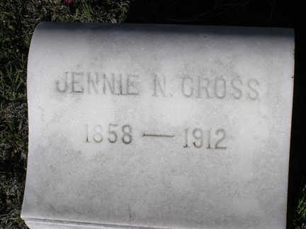 NELSON CROSS, JENNIE N. - Yavapai County, Arizona | JENNIE N. NELSON CROSS - Arizona Gravestone Photos